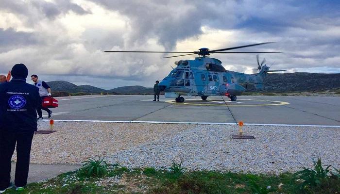 Οι Γιατροί του Κόσμου στη Φολέγανδρο – Επείγουσα διακομιδή ασθενούς με ελικόπτερο.